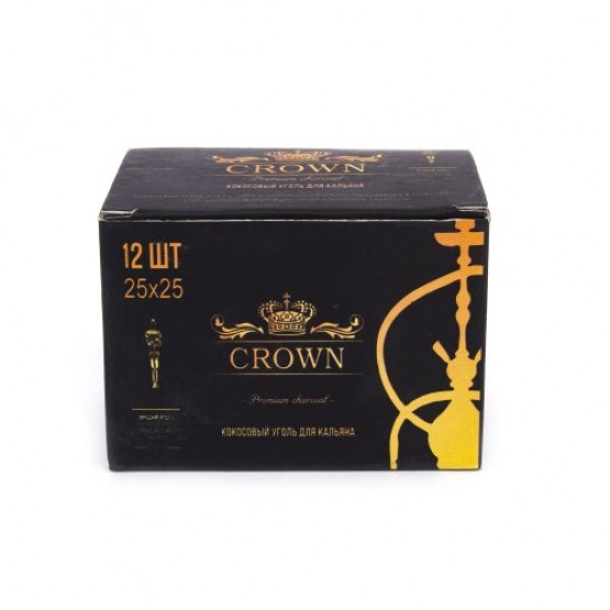 Уголь кокосовый Crown (12шт)